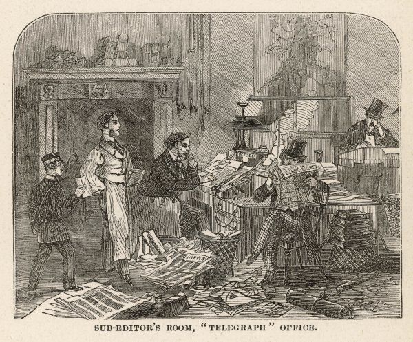 A sub-editor's office at the 'Daily Telegraph', London