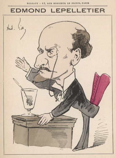 Edmond Lepelletier (1846-1913) radical French journalist and writer for various French newspapers including 'Le Rappel&#39