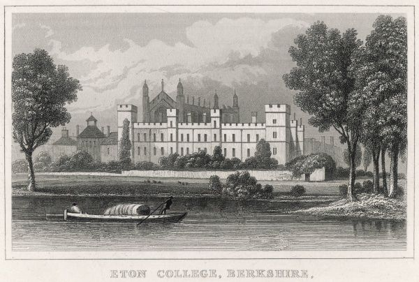 View of Eton College from the Thames