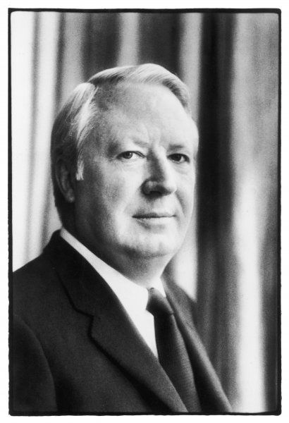EDWARD RICHARD GEORGE HEATH Prime Minister of Britain from 1970 to 1974 and leader of the Conservative Party from 1965 to 1975