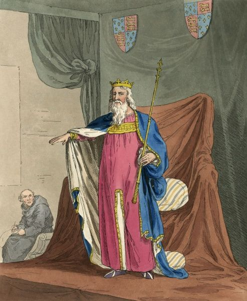 KING EDWARD III depicted in his robes of state. Date: 1312 - 1377