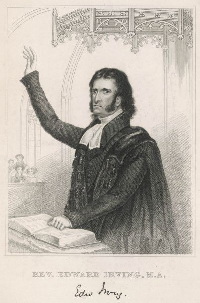 EDWARD IRVING Founder of 'Irvingites'. Cross eyed Scottish clergy