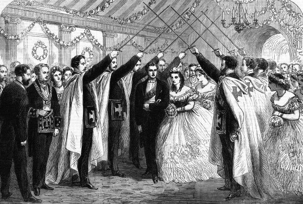 When Edward and Alexandra visit Oxford, the Apollo University Lodge of Freemasons honours them with an 'Arch of Honour' Date: June 1863