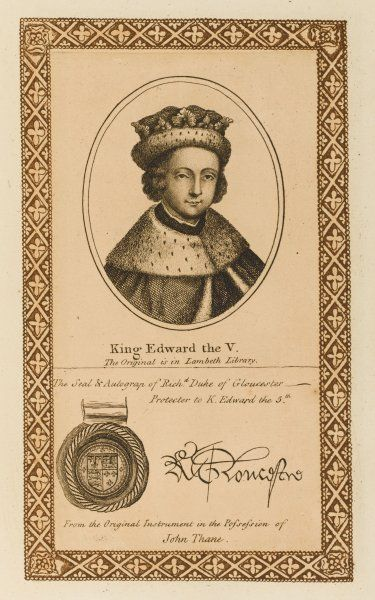 EDWARD V with his autograph