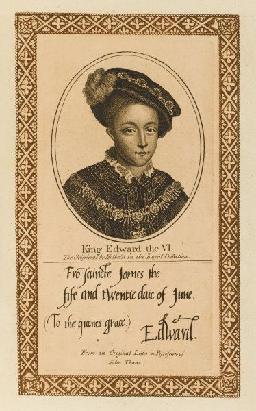 EDWARD VI with his autograph