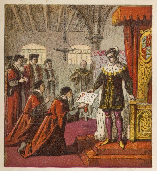 King Edward VI granting a charter to the barber-surgeons of London