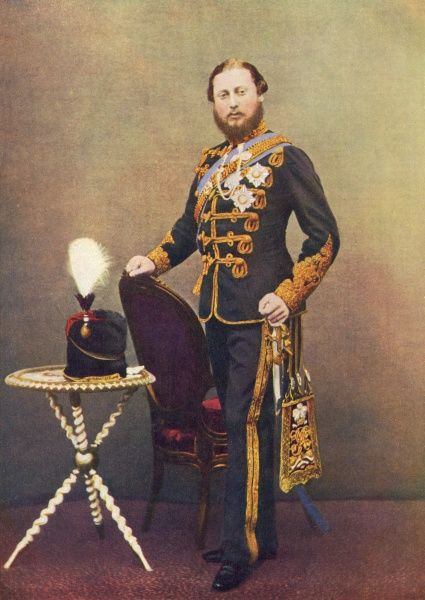 EDWARD VII, BRITISH ROYALTY as Colonel of 10th Hussars