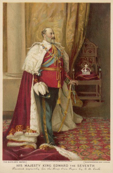 EDWARD VII, BRITISH ROYALTY in his coronation robes