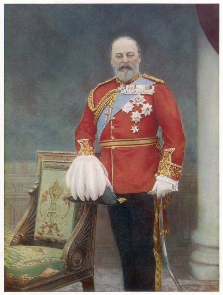 EDWARD VII, BRITISH ROYALTY as PRINCE OF WALES in 1901