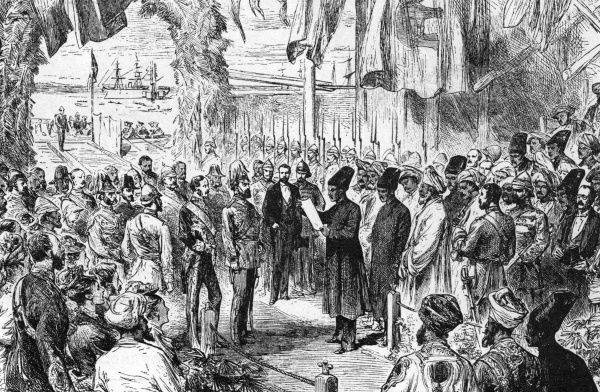 As Prince of Wales, Edward arrives in Bombay at the start of his India tour Date: 8 November 1875