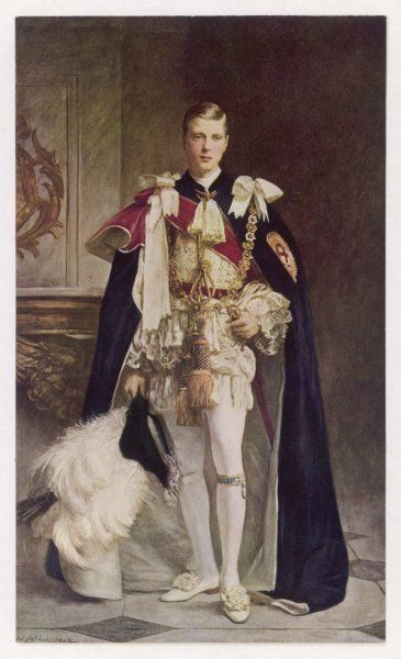 EDWARD VIII as Prince of Wales in full regalia