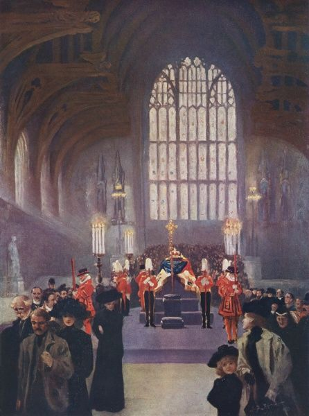 King Edward VII's lying in state at Westminster Hall, London May 16th - 19th 1910