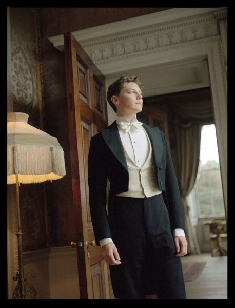The Young Master of an Edwardian house contemplates his future inheritance