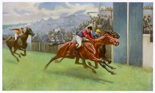 Persimmon wins the Derby, owned by Edward Prince of Wales