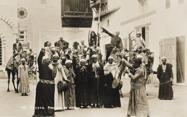 Egypt - Marriage Procession Date: circa 1910s