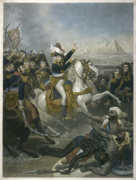 NAPOLEON I Napoleon at the Battle of the Pyramids