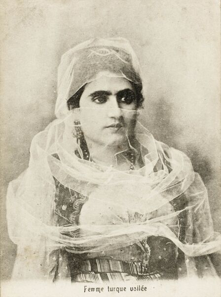 An Egyptian Ottoman Turkish Woman, enveloped in her fine veil