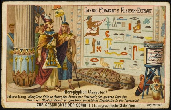 Egyptian hieroglyphs developed the scope of visual symbols to an extraordinary degree, graphic as well as decorative