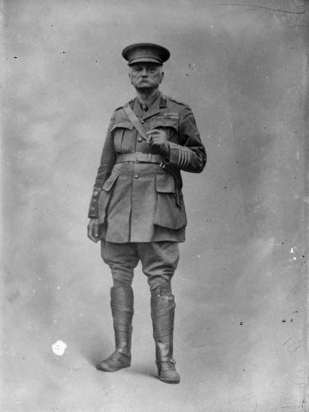 An elderly senior army officer in uniform, looking rather forbidding
