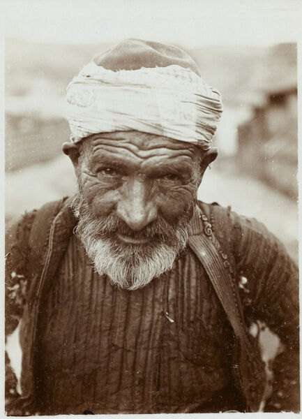 Turkish Social Scene Photographic Postcard set (2 of 5). A fantastic photographic portrait of an elderly Turkish Man (from Eastern Turkey)