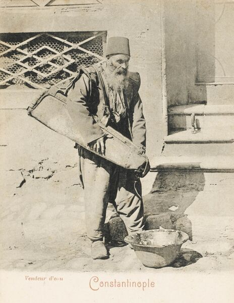 Elderly itinerant water vendor from Constantinople, Turkey