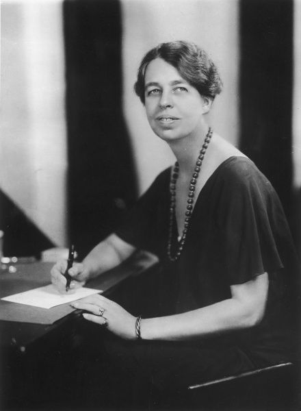 Portrait of Eleanor Roosevelt (1884-1962), American Humanitarian, United Nations diplomat and wife of Franklin Delano Roosevelt