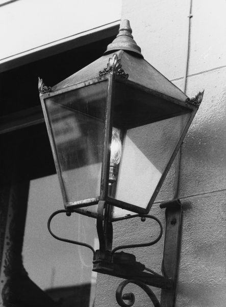 An old electric street lamp at Chester, Cheshire, England