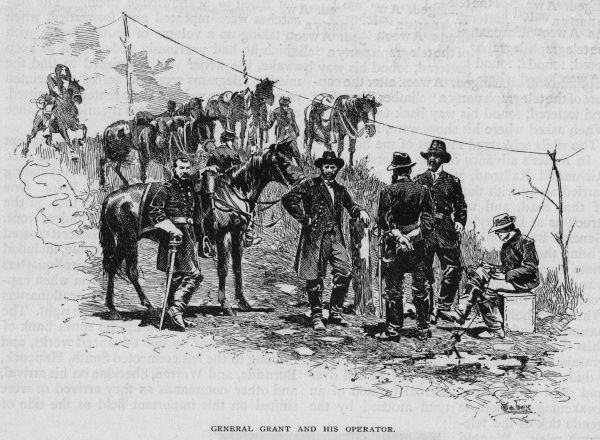 The electric telegraph in use during the American Civil War: General Ulysses S Grant and his operator