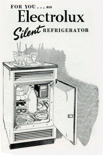 Electrolux refrigerator Date: 1952