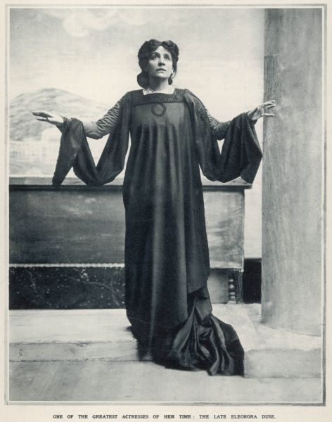 Photographic portrait of Eleonora Duse (1858/9-1924), the Italian actress, pictured in an expressive position
