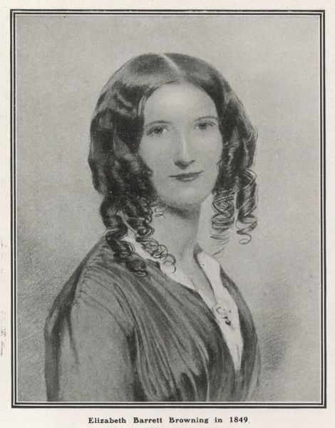 ELIZABETH BARRETT BROWNING English poet and wife of Robert Browning. Pictured here in 1849