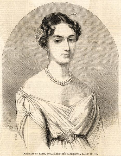 ELIZABETH BONAPARTE daughter of William Patterson of Baltimore, first wife of Napoleon's brother Jerome. The marriage was annulled after two years 1803 - 1805