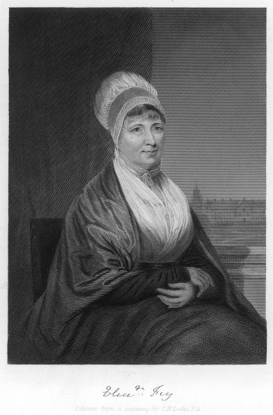 ELIZABETH FRY prison reformer with her autograph