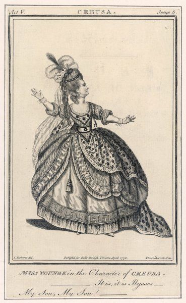 ELIZABETH POPE (when miss Younge ) actress as Creusa in Whitehead's play of that name, based on the Ion of Euripides. It was highly praised by Horace Walpole