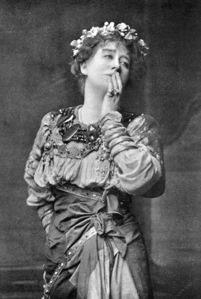 ELLEN TERRY English actress in the role of Imogen in Shakespeare's Cymbeline