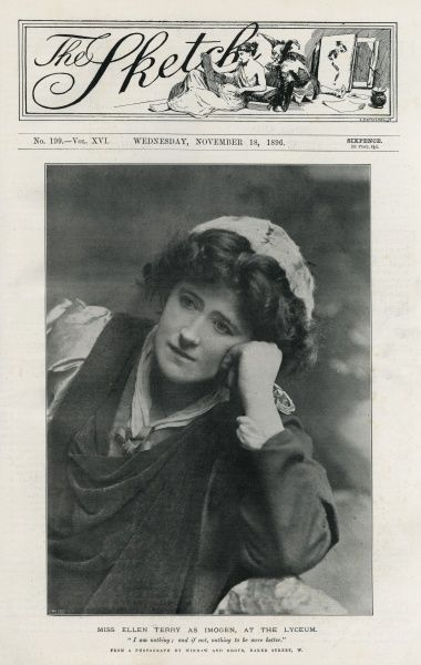 The actress Ellen Terry (1847-1928) - in the role of Imogen in Shakespeare's 'Cymbeline' at The Lyceum Theatre, London