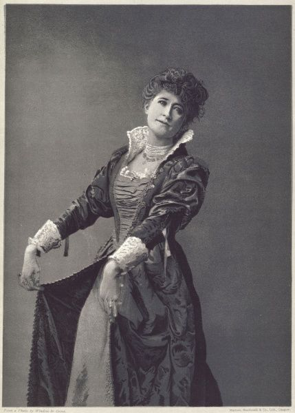 Dame ALICE ELLEN TERRY English actress in the role of Beatrice in 'Much Ado About Nothing&#39