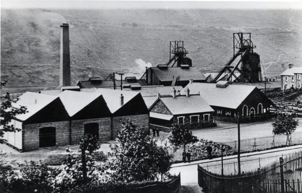 General view of the Elliot Colliery, New Tredegar, Rhymney Valley, South Wales