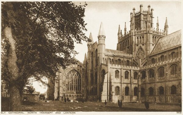 The magnificent cathedral at Ely, Cambridgeshire, known affectionately as the 'Ship of the Fens'. The present cathedral was started by Abbot Simeon (1082-1094, brother of Walkelin, the then bishop of Winchester) under William I in 1083
