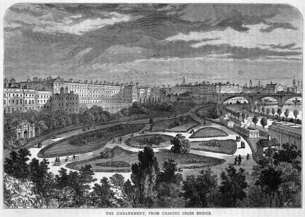 The Embankment Gardens at Charing Cross