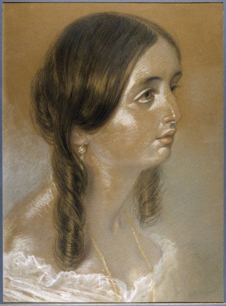 EMILY BRONTE This portrait is thought by some to be of Emily, on circumstantial grounds