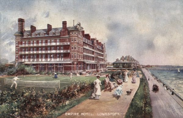 The Empire Hotel at Lowestoft, Suffolk, opened in 1900. In 1921 it was acquired by the Metropolitan Asylums Board and reopened the following year as a hospital for tuberculosis patients