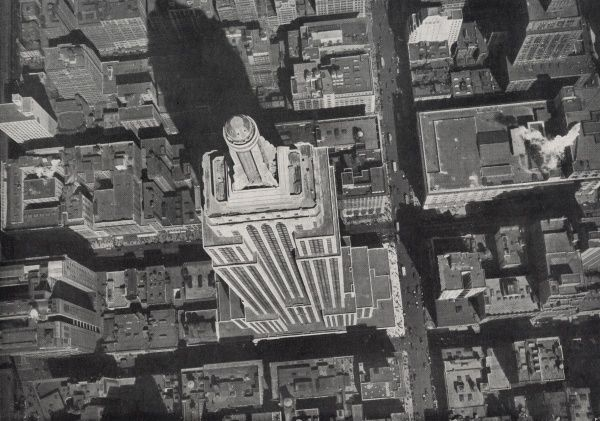 Empire State Building, New York, taken from the air almost directly above the building