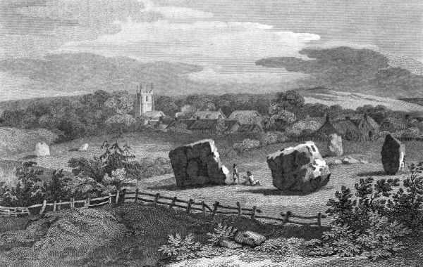 The remains of the Avebury stone circle, and the village of Avebury Date: 1813