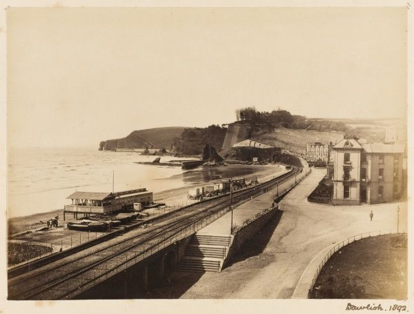 General view of the beach at Dawlish, Devon