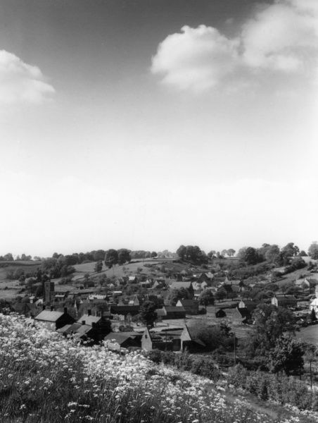 General overview of the village of Hornton, Warwickshire, England. Date: 1950s