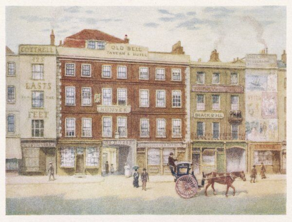The Bell Inn (destroyed 1897) and Black Bull (destroyed 1901)