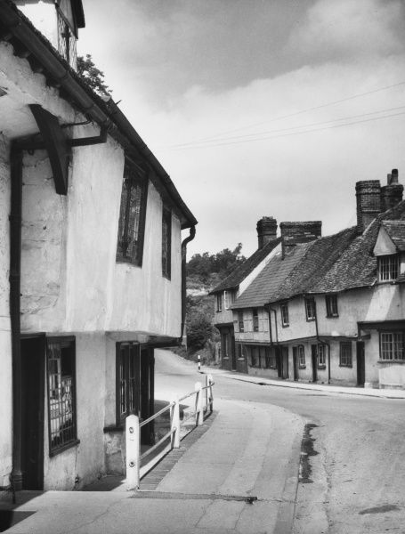 Lovely old street frontages in the ancient market town of Saffron Walden, north Essex, which takes its name from the abundance of the plant saffron which used to be grown there