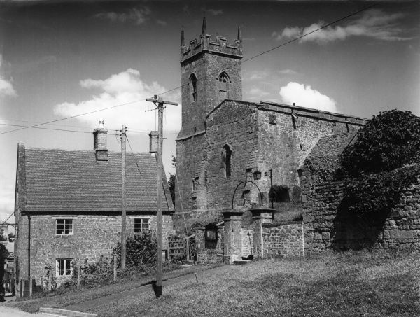 St, Martin's Church, in the lovely village of Shutford, Oxfordshire, England. Date: early 1960s