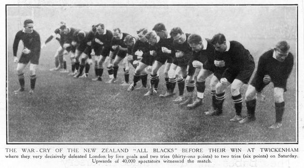 The War-cry of the New Zealand All Blacks before they very decisively beat London at Twickenham by 31-6
